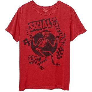 SOCIAL DISTORTION Speakeasy Checkerboard Red, Tシャツ