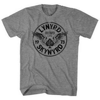 LYNYRD SKYNYRD Freebird '73 Wings Grey, Tシャツ