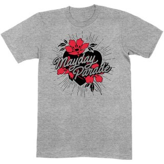 MAYDAY PARADE Heart And Flowers, Tシャツ