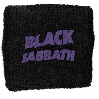 BLACK SABBATH Purple Wavy Logo, リストバンド