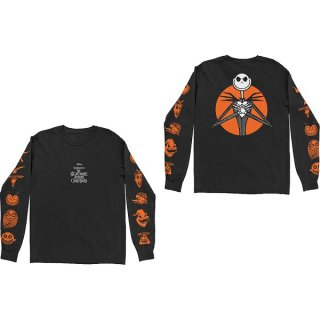 DISNEY The Nightmare Before Christmas All Characters Orange, ロングTシャツ