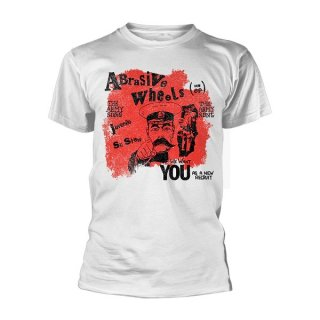 ABRASIVE WHEELS Army Song Wht, Tシャツ