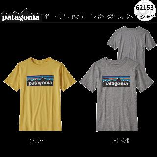 patagonia ボーイズ・P-6ロゴ・オーガニック・Tシャツ #62153