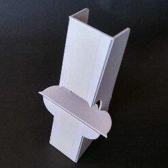 紙製パネルスタンドH340