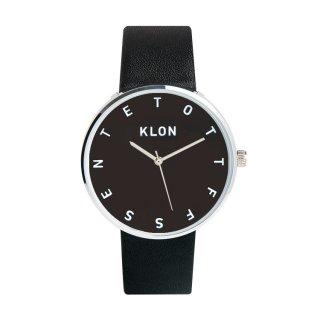 KLON ALPHABET TIME BLACK【BLACK SURFACE】40mm