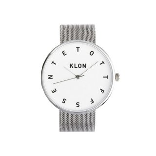 KLON ALPHABET TIME -SILVER MESH- 40mm