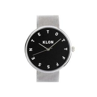 KLON ALPHABET TIME -SILVER MESH-【BLACK SURFACE】40mm