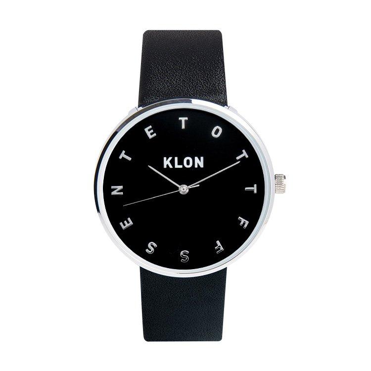KLON ALPHABET TIME BLACK【BLACK SURFACE】Ver.SILVER 40mm