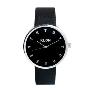 KLON ALPHABET TIME BLACK【BLACK SURFACE】Ver.SILVER 40mm