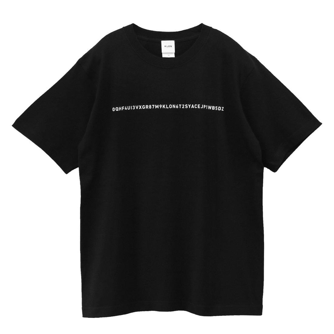 KLON Tshirts SERIAL NUMBER ONE LINES BLACK