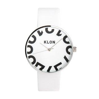 KLON HIDE TIME WHITE -ONE DIGIT- 40mm