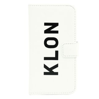 【iPhone X,Xs 対応】KLON iPhone X FLIP CASE (LOGO LARGE)  WHITE