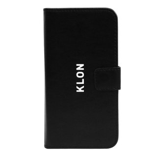 【iPhone X,Xs 対応】KLON iPhone X FLIP CASE (LOGO SMALL)  BLACK