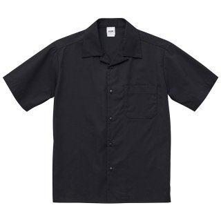KLON OPEN COLLAR SHIRTS BLACK(BACK LOGO)