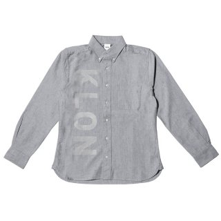 KLON OX SHIRTS GRAY(VERTICAL LOGO)