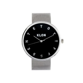 KLON ALPHABET TIME -SILVER MESH-【BLACK SURFACE】Ver.SILVER 40mm