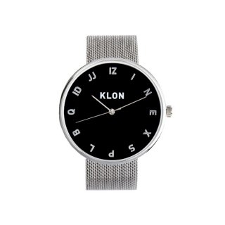 KLON MOCK NUMBER -SILVER MESH-【BLACK SURFACE】Ver.SILVER 40mm