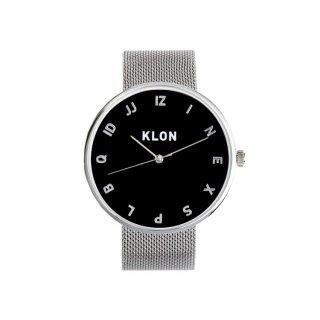KLON MOCK NUMBER -SILVER MESH-【BLACK SURFACE】Ver.SILVER 40mm