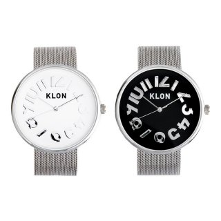 【組合せ商品】KLON HIDE TIME -SILVER MESH- Ver.SILVER PAIR WATCH 40mm