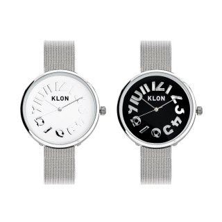 【組合せ商品】KLON HIDE TIME -SILVER MESH- Ver.SILVER PAIR WATCH 33mm
