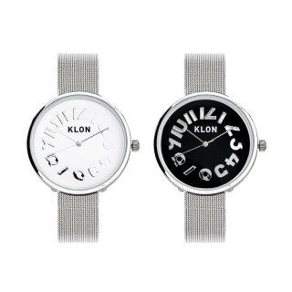 【組合せ商品】KLON HIDE TIME -SILVER MESH- Ver.SILVER PAIR WATCH 33mm
