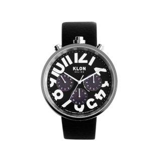 KLON HELIOS BLACK LEATHER -HIDE TIME- 43mm
