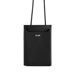 KLON LEATHER MULTI POUCH BLACK