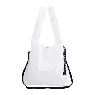 KLON ACTIVE HANG LINE SHOULDER MARCHE BAG WHITE
