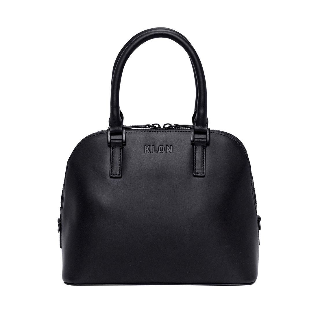 KLON ACTIVE LEATHER BAG -VNM- ROUND TYPE BLACK × BLACK