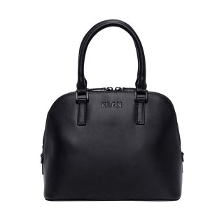 KLON ACTIVE LEATHER BAG -VNM- ROUND TYPE BLACK × BLACK