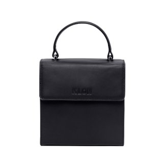KLON ACTIVE LEATHER BAG -VNM- FLAP TYPE BLACK
