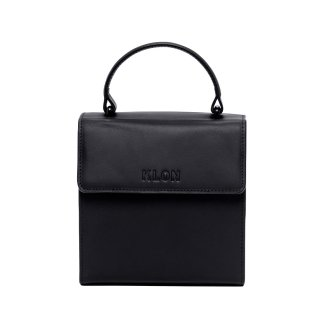 KLON ACTIVE LEATHER BAG -VNM- FLAP TYPE BLACK × BLACK