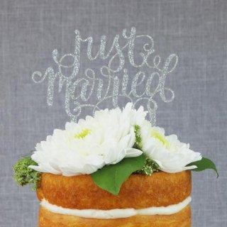 ケーキトッパー JUST MARRIED