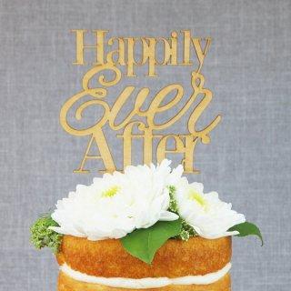 ケーキトッパー Happily Ever After 木製