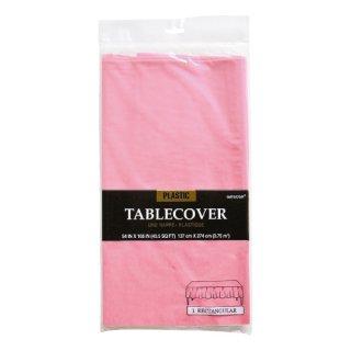使い捨てテーブルクロス 【ピンク】 プラスチック製 テーブルカバー