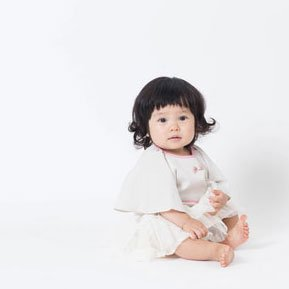 【niva】おでかけスタイ☆Restaurant bib レストランビブ)/ ベージュトライプ
