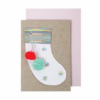 【Meri Meri】クリスマスソックスのミニグリーティングカード