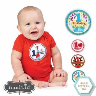 【Mud Pie】1歳の初めて記念ステッカーセット【12か月分のイベントのステッカー】(1002008) SALE