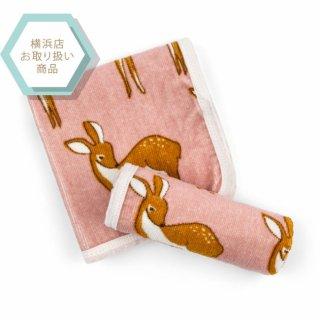 【MILKBARN】バスクロス同柄2枚セット■小鹿(ピンク)■ オーガニックコットン100% (25010100)