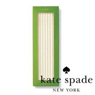 【Kate Spade】Straw Set Gold Dotsアクリルストロー 6本入り 21.5cm(177939)