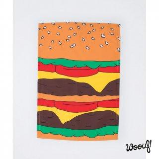 【WOOUF!BARCELONA】ティータオル・キッチンクロス ハンバーガー