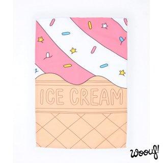 【WOOUF!BARCELONA】ティータオル・キッチンクロス アイスクリーム