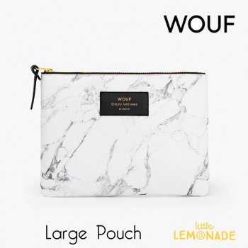【WOUF】 ラージポーチ 【White Marble】