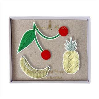 【Meri Meri】刺繍ブローチ 【Fruit・フルーツ・果物】