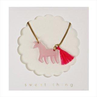 【Meri Meri】ネックレス 【Pink Unicorn・ユニコーン・タッセル付】