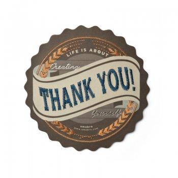 【amabro アマブロ】刺繍入り メッセージカード / THANK YOU