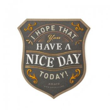 【amabro アマブロ】刺繍入り メッセージカード / HAVE A NICE DAY