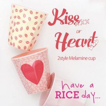 【RICE】プリントメラミンカップ/Kiss