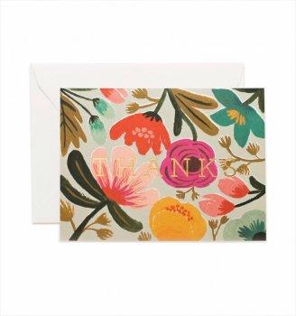【RIFLE PAPER】サンクスカード/Gold Floral Thank You(ゴールドフローラル) (GCT008)