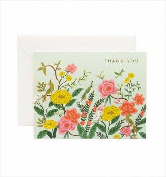 【RIFLE PAPER】サンクスカード/Shanghai Garden Thanks(オリエンタルサンクス) (GCT031)